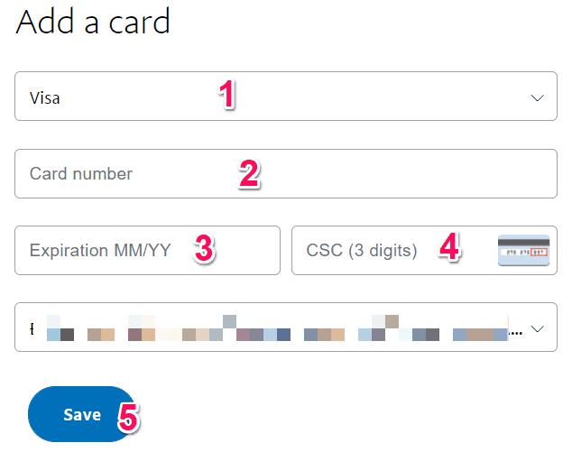 Hướng dẫn đăng ký tài khoản Paypal điền thông tin thêm thẻ Visa