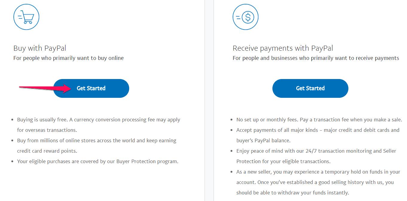 Hướng dẫn đăng ký tài khoản Paypal Buy or sell paypal