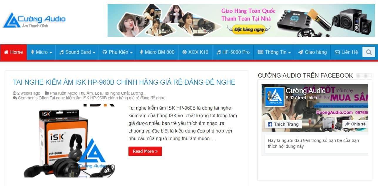 Website bán hàng Cường Audio