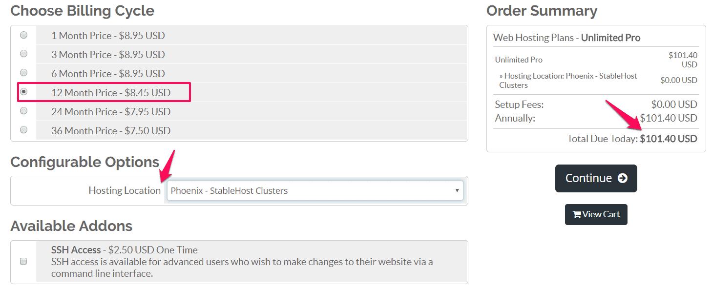 mua hosting stablehost 2