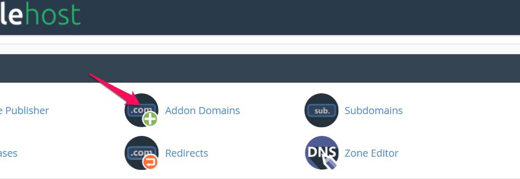 thêm domain vào hosting 1