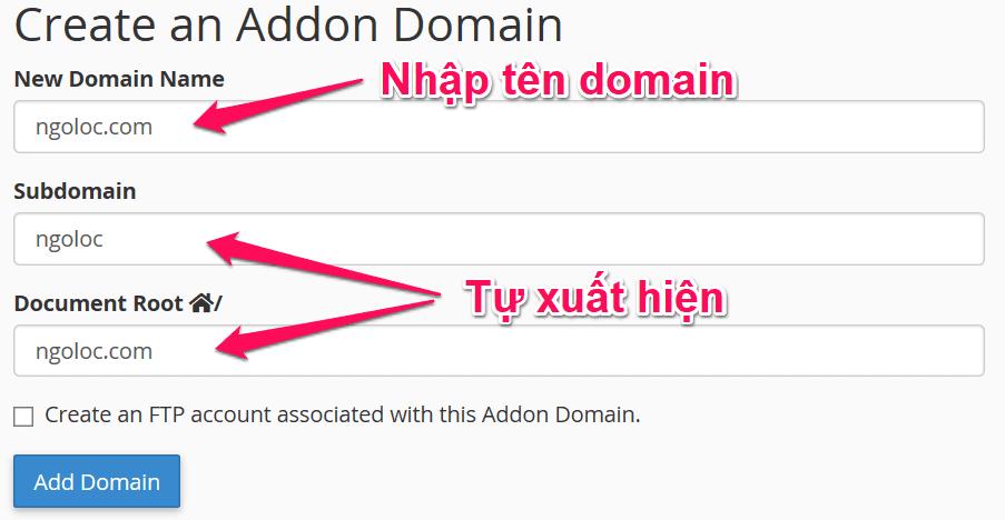 thêm domain vào hosting 2