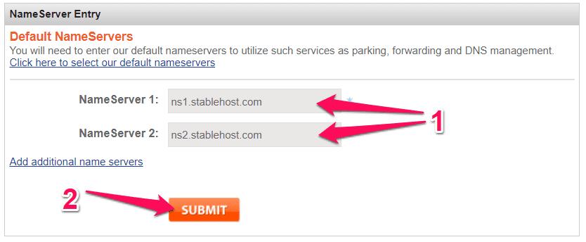 trỏ domain về hosting 4