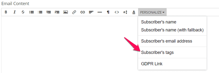 convertkit gởi email phân chia khách hàng chọ tag