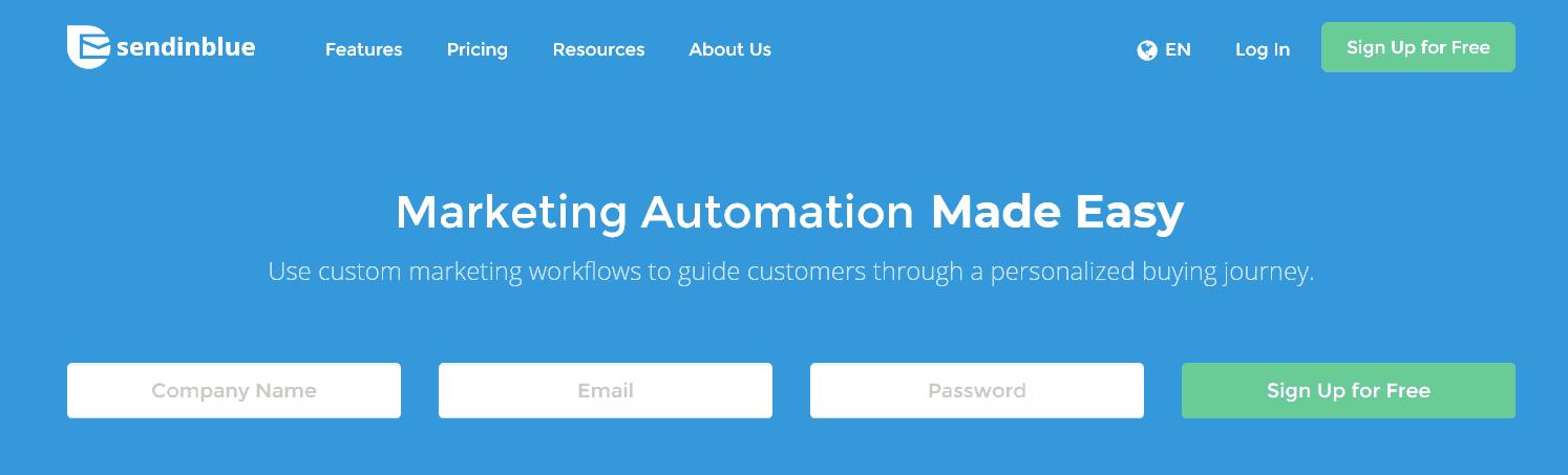 email marketing miễn phí SendinBlue