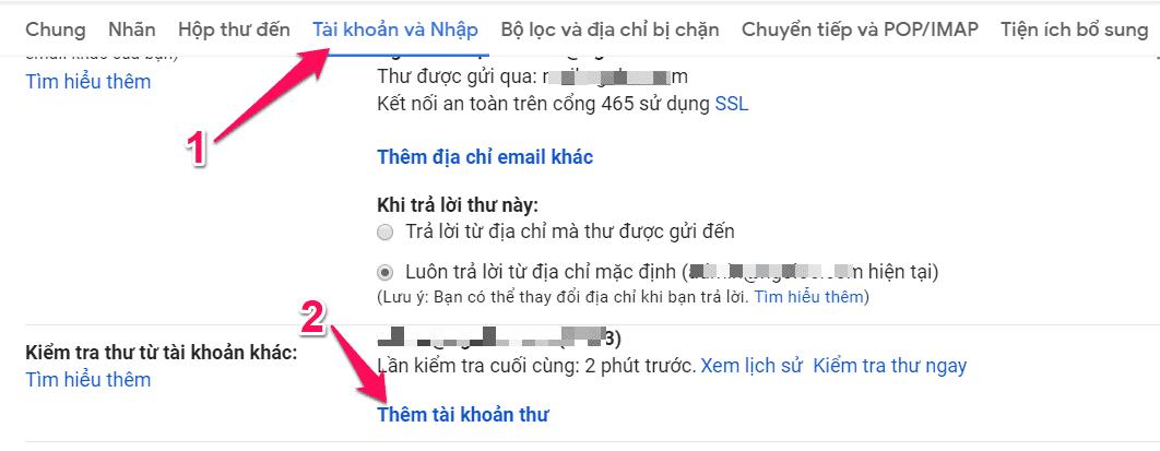 liên kết email tên miền riêng với gmail 03
