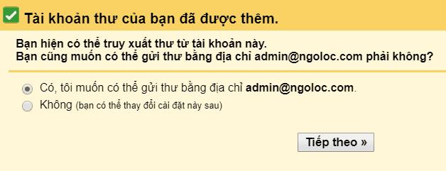 liên kết email tên miền riêng với gmail 4