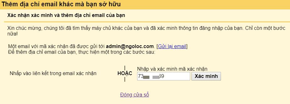 liên kết email tên miền riêng với gmail 7