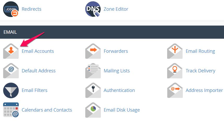 tạo email theo tên miền riêng chọn email 1