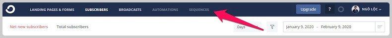 Tạo chuỗi email tự động với converkit