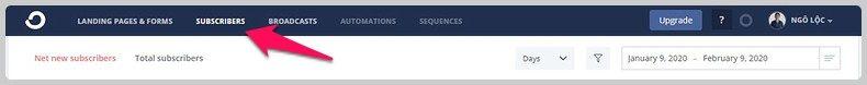 Thêm email thủ công vào convertkit